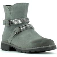 Sapatos Rapariga Botins Grunland PO0436 Cinzento