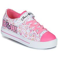 Sapatos Criança Sapatilhas com rodas Heelys SNAZZY Branco / Rosa / Lavanda