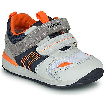 Sapatos Rapaz Sapatilhas Geox B RISHON Branco