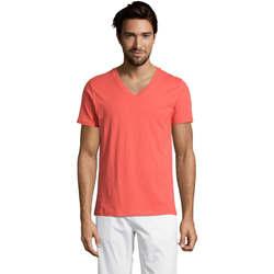 Textil Homem T-Shirt mangas curtas Sols Master camiseta hombre cuello pico Otros