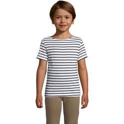 Textil Criança T-Shirt mangas curtas Sols Camiseta niño cuello redondo Azul