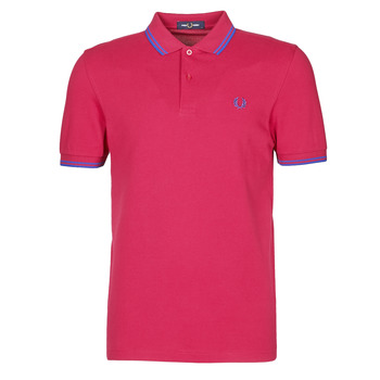 Textil Homem Polos mangas curta Fred Perry TWIN TIPPED FRED PERRY SHIRT Vermelho