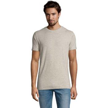 Textil Homem T-Shirt mangas curtas Sols Camiserta de hombre de cuello redondo Gris