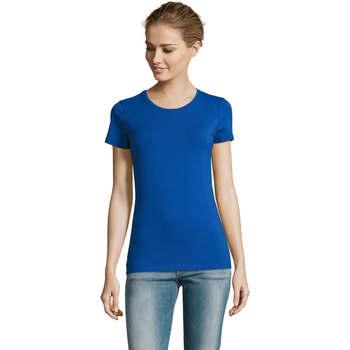 Textil Mulher T-Shirt mangas curtas Sols Camiserta de mujer de cuello redondo Azul