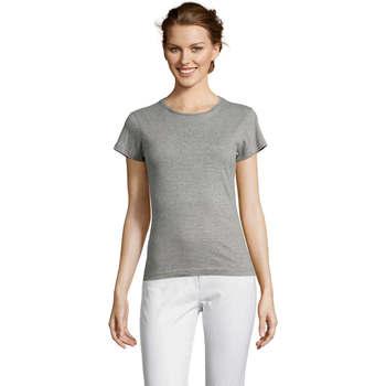 Textil Mulher T-Shirt mangas curtas Sols Miss camiseta manga corta mujer Gris