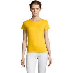 Textil Mulher T-Shirt mangas curtas Sols Miss camiseta manga corta mujer Amarillo