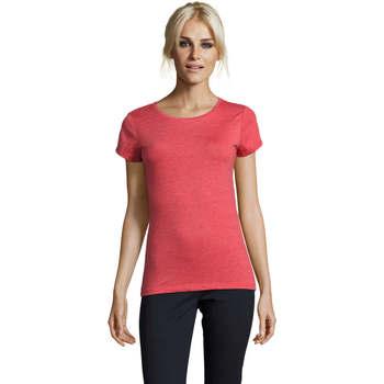 Textil Mulher T-Shirt mangas curtas Sols Mixed Women camiseta mujer Rojo