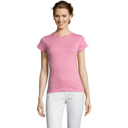 Textil Mulher T-Shirt mangas curtas Sols Miss camiseta manga corta mujer Rosa