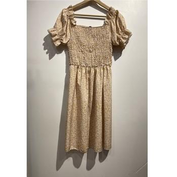 Textil Mulher Vestidos curtos Fashion brands 53176-BEIGE Bege