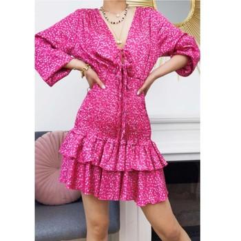 Textil Mulher Vestidos curtos Fashion brands 22974-FUSHIA Rosa fúchia