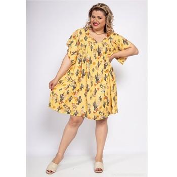 Textil Mulher Vestidos curtos Fashion brands DIABOLE-COLOR-ONE-JAUNE Amarelo