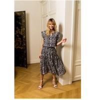 Textil Mulher Tops / Blusas Fashion brands CK08138-MARINE Marinho