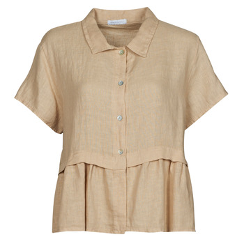 Textil Mulher Tops / Blusas Fashion brands 10998-BEIGE Bege