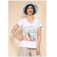 Textil Mulher Tops / Blusas Fashion brands 8301-COMBI-SKY-BLUE Azul