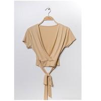 Textil Mulher Tops / Blusas Fashion brands FR029T-BEIGE Bege