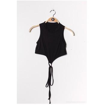 Textil Mulher Tops / Blusas Fashion brands FR070-BLACK Preto