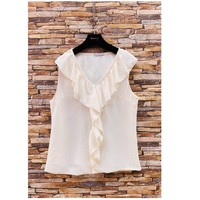 Textil Mulher Tops / Blusas Fashion brands ERMD-13797-CP-BLANC Branco