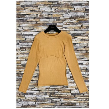 Textil Mulher Tops / Blusas Fashion brands HD-2813-N-BROWN Castanho