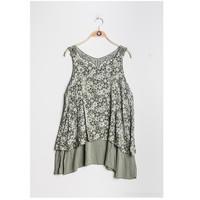 Textil Mulher Tops / Blusas Fashion brands 9673-KAKI Cáqui