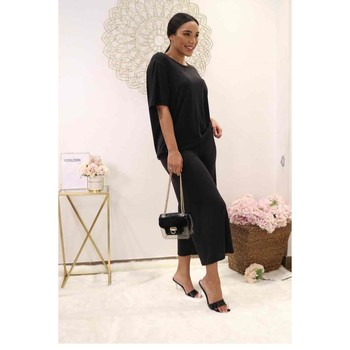 Textil Mulher Tops / Blusas Fashion brands 9159-BLACK Preto
