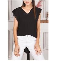 Textil Mulher Tops / Blusas Fashion brands F2106-BLACK Preto