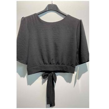 Textil Mulher Tops / Blusas Fashion brands 5172-BLACK Preto