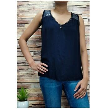 Textil Mulher Tops / Blusas Fashion brands 2940-BLACK Preto