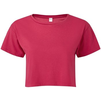 Textil Mulher Tops / Blusas Tridri TR019 Rosa Quente