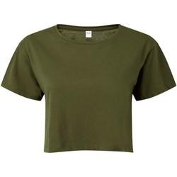 Textil Mulher Tops / Blusas Tridri TR019 Azeitona