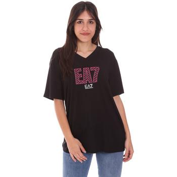 Textil Mulher T-Shirt mangas curtas Ea7 Emporio Armani 3KTT24 TJ1TZ Preto