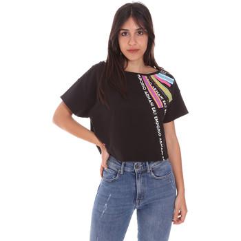 Textil Mulher T-Shirt mangas curtas Ea7 Emporio Armani 3KTT40 TJ39Z Preto