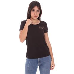 Textil Mulher T-Shirt mangas curtas Ea7 Emporio Armani 8NTT65 TJ28Z Preto