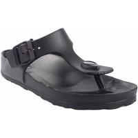Sapatos Mulher Chinelos Kelara Senhora da praia  k12018 preto Preto