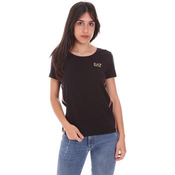 Textil Mulher T-Shirt mangas curtas Ea7 Emporio Armani 3KTT51 TJ9VZ Preto