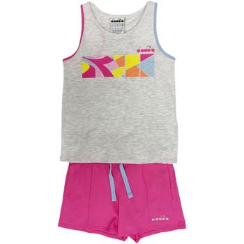 Textil Criança Todos os fatos de treino Diadora 102175900 Cinzento