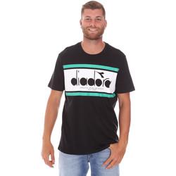 Textil Homem T-Shirt mangas curtas Diadora 502176632 Preto