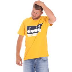 Textil Homem T-Shirt mangas curtas Diadora 502175835 Amarelo