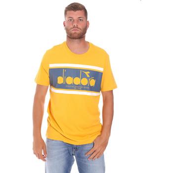 Textil Homem T-Shirt mangas curtas Diadora 502176632 Amarelo