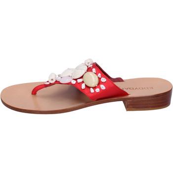 Sapatos Mulher Chinelos Eddy Daniele AW374 vermelho