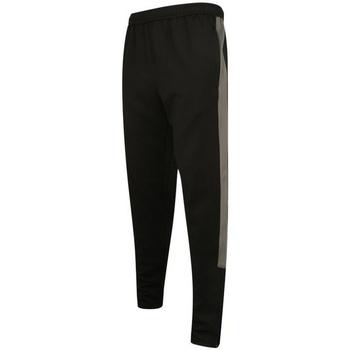 Textil Homem Calças de treino Finden & Hales LV881 Preto/Gunmetal Cinza