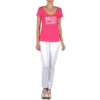 Textil Mulher Calças Tommy Hilfiger LENNY Rosa