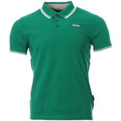 Textil Homem Polos mangas curta Schott  Verde