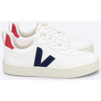 Sapatos Sapatilhas Veja V-10 Lace CWL White Cobalt Pekin Branco