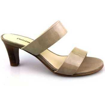 Sapatos Mulher Chinelos PintoDiBlu 63030-01 Bege