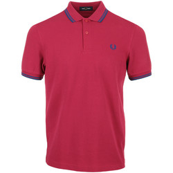 Textil Homem Polos mangas curta Fred Perry Twin Tipped Shirt Rosa