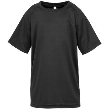 Textil Rapaz T-Shirt mangas curtas Spiro S287J Preto