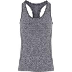 Textil Mulher Tops sem mangas Tridri TR209 Carvão vegetal