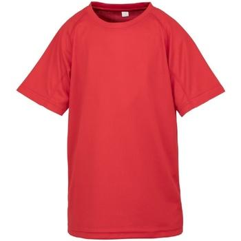 Textil Criança T-Shirt mangas curtas Spiro S287J Vermelho