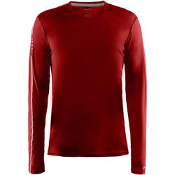 Textil Homem T-shirt mangas compridas Craft CT089 Vermelho