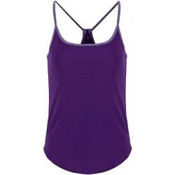 Textil Mulher Tops / Blusas Tridri TR043 Lilás/roxo brilhante Melange